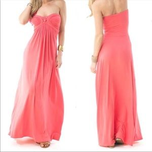 Strapless Sky Maxi Dress